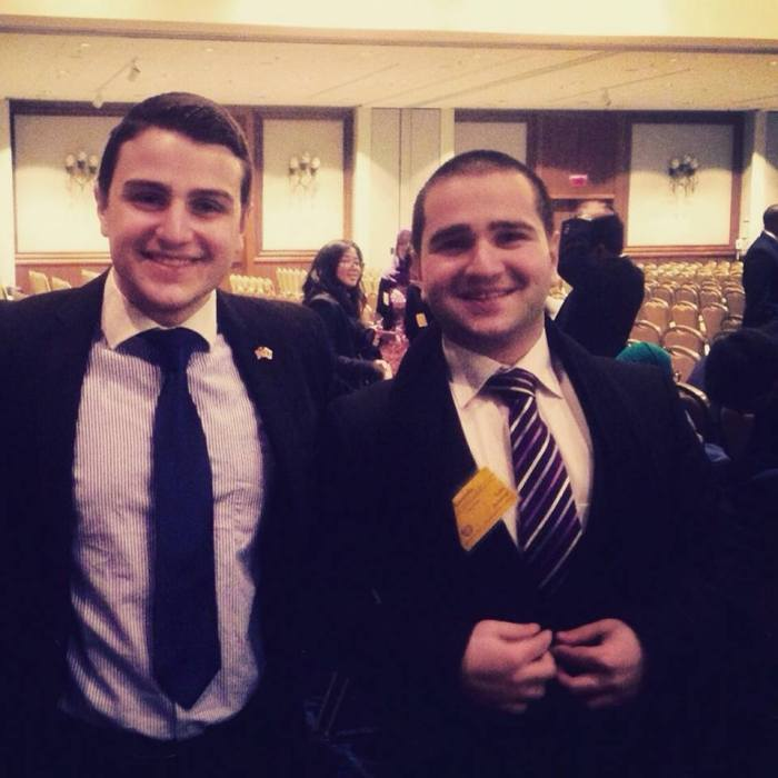 Young Ambassador with his brother and founder of the Georgian Youth Network Luka Jorjoliani